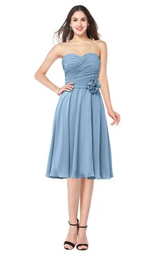 sleeveless tea length dress