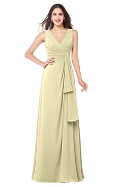 ColsBM Brenda Anise Flower Romantic Thick Straps Sleeveless Zipper Floor Length Sash Plus Size Bridesmaid Dresses