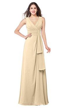 ColsBM Brenda Apricot Gelato Romantic Thick Straps Sleeveless Zipper Floor Length Sash Plus Size Bridesmaid Dresses