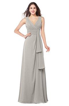 ColsBM Brenda Ashes Of Roses Romantic Thick Straps Sleeveless Zipper Floor Length Sash Plus Size Bridesmaid Dresses