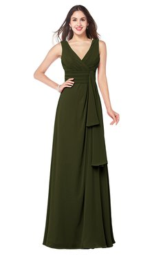 ColsBM Brenda Beech Romantic Thick Straps Sleeveless Zipper Floor Length Sash Plus Size Bridesmaid Dresses