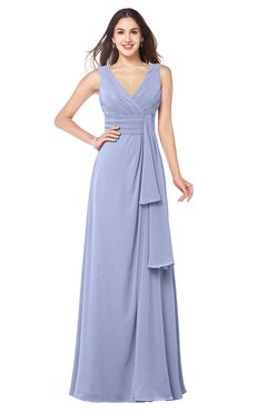 ColsBM Brenda Blue Heron Romantic Thick Straps Sleeveless Zipper Floor Length Sash Plus Size Bridesmaid Dresses