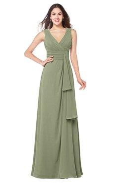 ColsBM Brenda Bog Romantic Thick Straps Sleeveless Zipper Floor Length Sash Plus Size Bridesmaid Dresses