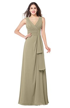 ColsBM Brenda Candied Ginger Romantic Thick Straps Sleeveless Zipper Floor Length Sash Plus Size Bridesmaid Dresses
