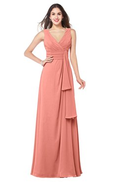 ColsBM Brenda Desert Flower Romantic Thick Straps Sleeveless Zipper Floor Length Sash Plus Size Bridesmaid Dresses
