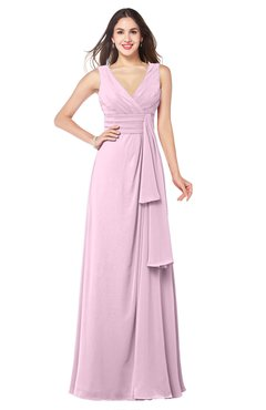 ColsBM Brenda Fairy Tale Romantic Thick Straps Sleeveless Zipper Floor Length Sash Plus Size Bridesmaid Dresses