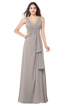 ColsBM Brenda Fawn Romantic Thick Straps Sleeveless Zipper Floor Length Sash Plus Size Bridesmaid Dresses