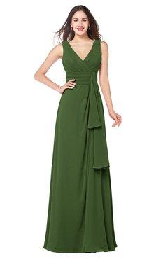 ColsBM Brenda Garden Green Romantic Thick Straps Sleeveless Zipper Floor Length Sash Plus Size Bridesmaid Dresses