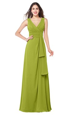ColsBM Brenda Green Oasis Romantic Thick Straps Sleeveless Zipper Floor Length Sash Plus Size Bridesmaid Dresses