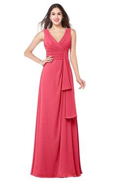 ColsBM Brenda Guava Romantic Thick Straps Sleeveless Zipper Floor Length Sash Plus Size Bridesmaid Dresses