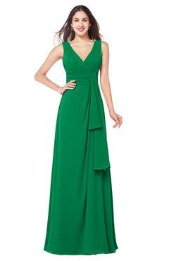 ColsBM Brenda Jelly Bean Romantic Thick Straps Sleeveless Zipper Floor Length Sash Plus Size Bridesmaid Dresses