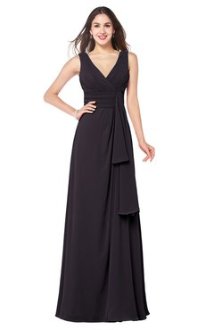 ColsBM Brenda Perfect Plum Romantic Thick Straps Sleeveless Zipper Floor Length Sash Plus Size Bridesmaid Dresses