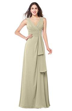 ColsBM Brenda Putty Romantic Thick Straps Sleeveless Zipper Floor Length Sash Plus Size Bridesmaid Dresses