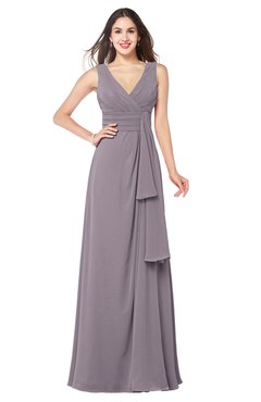 ColsBM Brenda Sea Fog Romantic Thick Straps Sleeveless Zipper Floor Length Sash Plus Size Bridesmaid Dresses