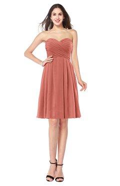 ColsBM Jillian Crabapple Gorgeous Sweetheart Sleeveless Half Backless Knee Length Plus Size Bridesmaid Dresses
