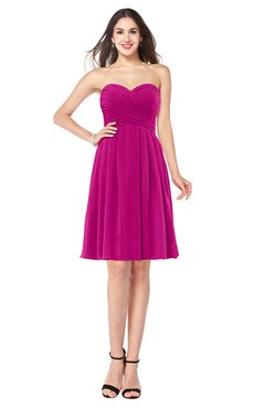 c9263bf93003 ColsBM Jillian Hot Pink Gorgeous Sweetheart Sleeveless Half Backless Knee  Length Plus Size Bridesmaid Dresses