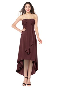 ColsBM Emilee Burgundy Sexy A-line Sleeveless Half Backless Asymmetric Plus Size Bridesmaid Dresses