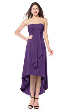 769b33ac8c42e ColsBM Emilee Dark Purple Sexy A-line Sleeveless Half Backless Asymmetric  Plus Size Bridesmaid Dresses
