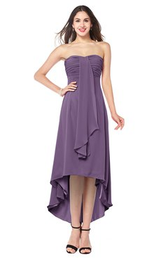 ColsBM Emilee Eggplant Sexy A-line Sleeveless Half Backless Asymmetric Plus Size Bridesmaid Dresses