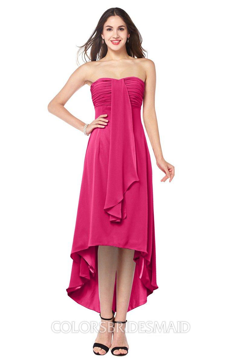 a622f8dba6a ColsBM Emilee Fuschia Sexy A-line Sleeveless Half Backless Asymmetric Plus  Size Bridesmaid Dresses