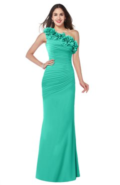 ColsBM Lisa Ceramic Sexy Fit-n-Flare Sleeveless Half Backless Chiffon Flower Plus Size Bridesmaid Dresses