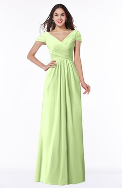 ColsBM Evie Butterfly Glamorous A-line Short Sleeve Floor Length Ruching Plus Size Bridesmaid Dresses