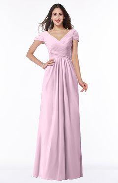 ColsBM Evie Fairy Tale Glamorous A-line Short Sleeve Floor Length Ruching Plus Size Bridesmaid Dresses