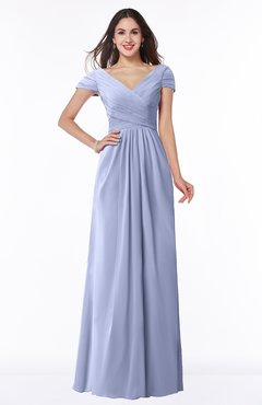 ColsBM Evie Lavender Glamorous A-line Short Sleeve Floor Length Ruching Plus Size Bridesmaid Dresses