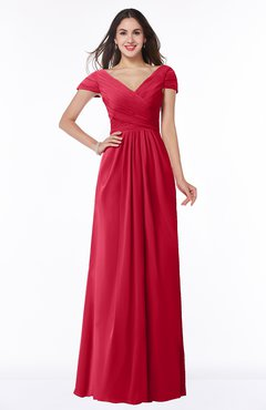 ColsBM Evie Lollipop Glamorous A-line Short Sleeve Floor Length Ruching Plus Size Bridesmaid Dresses
