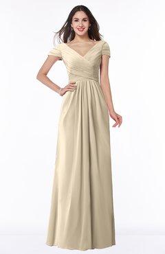ColsBM Evie Novelle Peach Glamorous A-line Short Sleeve Floor Length Ruching Plus Size Bridesmaid Dresses