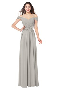 ColsBM Susan Ashes Of Roses Mature Short Sleeve Zipper Floor Length Ribbon Plus Size Bridesmaid Dresses