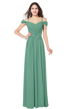 ColsBM Susan Bristol Blue Mature Short Sleeve Zipper Floor Length Ribbon Plus Size Bridesmaid Dresses