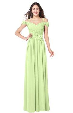 ColsBM Susan Butterfly Mature Short Sleeve Zipper Floor Length Ribbon Plus Size Bridesmaid Dresses