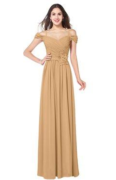 ColsBM Susan Desert Mist Mature Short Sleeve Zipper Floor Length Ribbon Plus Size Bridesmaid Dresses