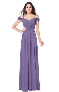 ColsBM Susan Lilac Mature Short Sleeve Zipper Floor Length Ribbon Plus Size Bridesmaid Dresses