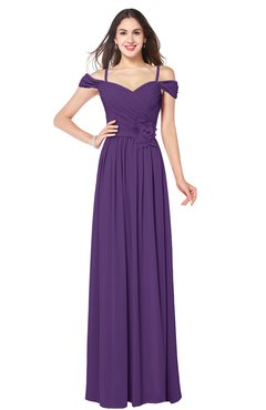 ColsBM Susan Pansy Mature Short Sleeve Zipper Floor Length Ribbon Plus Size Bridesmaid Dresses