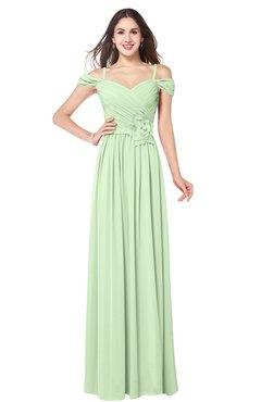 ColsBM Susan Seacrest Mature Short Sleeve Zipper Floor Length Ribbon Plus Size Bridesmaid Dresses