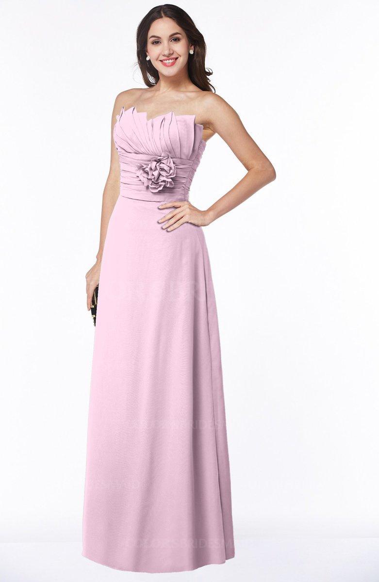 299abbe21b4 ColsBM Elaine Fairy Tale Modern A-line Sleeveless Zip up Flower Plus Size Bridesmaid  Dresses