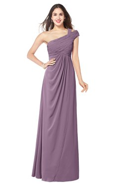 ColsBM Bethany Mauve Modern A-line Sleeveless Chiffon Floor Length Plus Size Bridesmaid Dresses