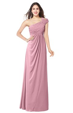 ColsBM Bethany Rosebloom Modern A-line Sleeveless Chiffon Floor Length Plus Size Bridesmaid Dresses