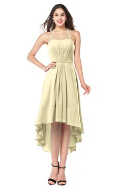ColsBM Hannah Anise Flower Casual A-line Halter Half Backless Asymmetric Ruching Plus Size Bridesmaid Dresses