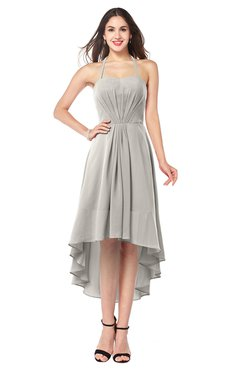 ColsBM Hannah Ashes Of Roses Casual A-line Halter Half Backless Asymmetric Ruching Plus Size Bridesmaid Dresses