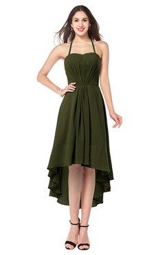 ColsBM Hannah Beech Casual A-line Halter Half Backless Asymmetric Ruching Plus Size Bridesmaid Dresses