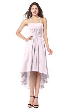 ColsBM Hannah Blush Casual A-line Halter Half Backless Asymmetric Ruching Plus Size Bridesmaid Dresses