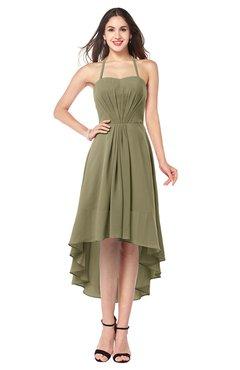 ColsBM Hannah Boa Casual A-line Halter Half Backless Asymmetric Ruching Plus Size Bridesmaid Dresses