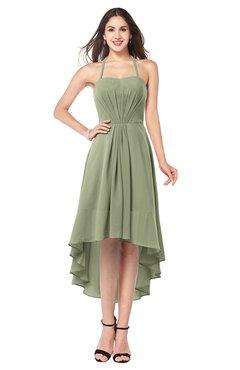 ColsBM Hannah Bog Casual A-line Halter Half Backless Asymmetric Ruching Plus Size Bridesmaid Dresses