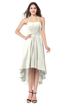 ColsBM Hannah Cream Casual A-line Halter Half Backless Asymmetric Ruching Plus Size Bridesmaid Dresses