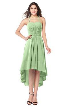 ColsBM Hannah Gleam Casual A-line Halter Half Backless Asymmetric Ruching Plus Size Bridesmaid Dresses