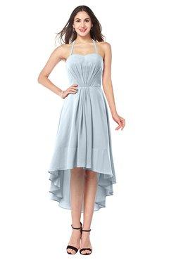 ColsBM Hannah Illusion Blue Casual A-line Halter Half Backless Asymmetric Ruching Plus Size Bridesmaid Dresses