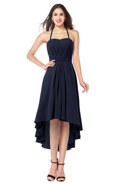 ColsBM Hannah Peacoat Casual A-line Halter Half Backless Asymmetric Ruching Plus Size Bridesmaid Dresses